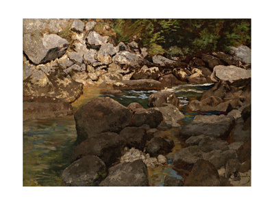 Mountain Stream with Boulders, 1888-1889 Giclee Print by Carl Schuch