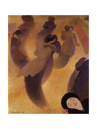 The Waltz (La Vals) Giclee Print by Felix Edouard Vallotton