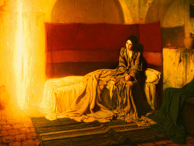The Annunciation, 1898 Giclee Print by Henry Ossawa Tanner