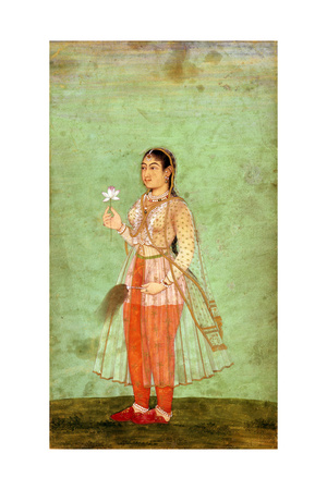 A Lady with Flower and Fly Whisk, C.1630 Giclee Print