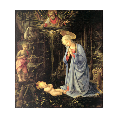 The Adoration in the Forest, 1459 Giclee Print by Fra Filippo Lippi