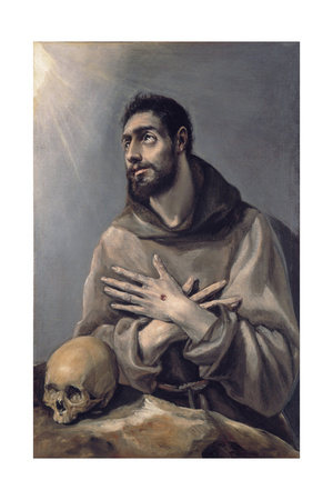 Saint Francis in Ecstasy, C. 1580 Giclee Print by  El Greco
