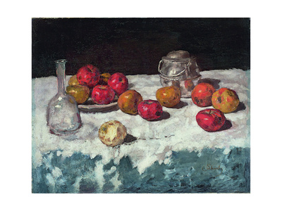 Still Life with Apples, 1889 Giclee Print by Carl Schuch