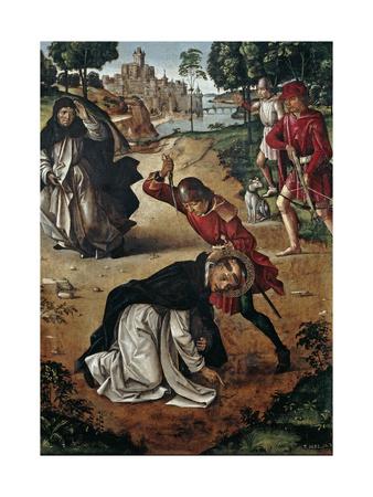 The Death of Saint Peter of Verona, 1493-1499 Giclée-tryk af Pedro Berruguete