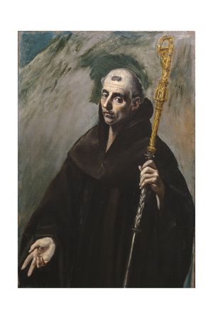 Saint Benedict of Nursia, 1577-1579 Giclee Print by  El Greco