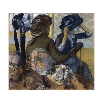 At the Milliner'S, 1882 Giclee Print by Edgar Degas