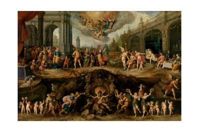 Man Having to Choose Between the Virtues and Vices, 1635 Giclee Print by Frans Francken the Younger