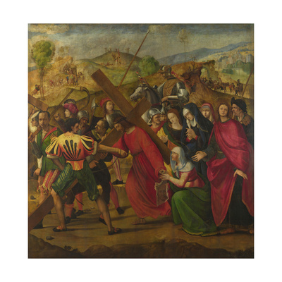 The Procession to Calvary, C. 1505 Giclee Print by Ridolfo Ghirlandaio