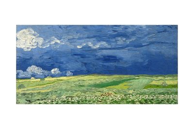 Wheatfield under Thunderclouds, 1890 Giclee Print by Vincent van Gogh