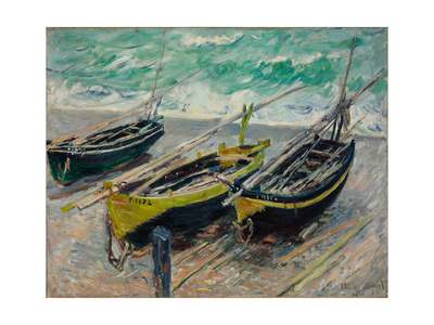 Three Fishing Boats, 1886 Giclee Print by Claude Monet