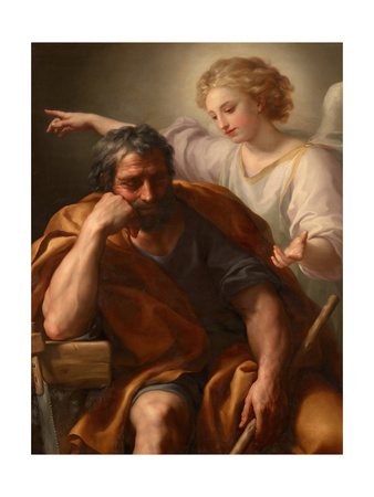 The Dream of St. Joseph, 1774 Giclee Print by Anton Raphael Mengs