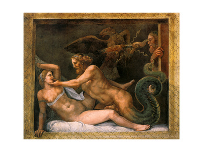 Jupiter and Olympia, 1526-1534 Giclee Print by Giulio Romano