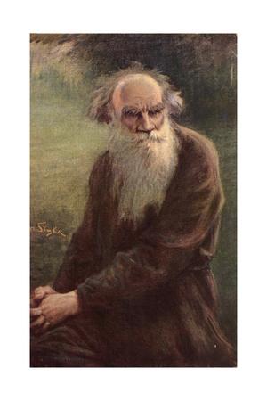 Portrait of the Author Leo N. Tolstoy (1828-191), 1910 Giclee Print by Jan Styka