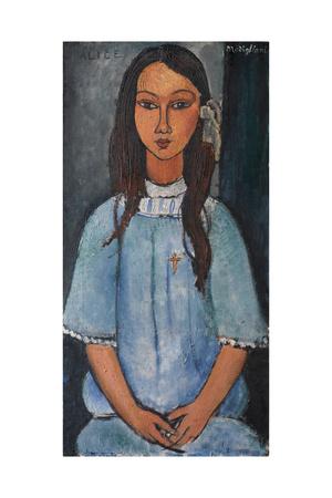 Alice, C. 1918 Giclée-tryk af Amedeo Modigliani