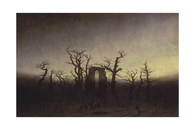 Abbey Among Oak Trees, Ca 1809 Giclee Print by Caspar David Friedrich