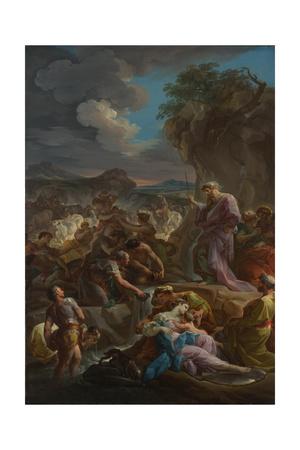 Moses Striking the Rock, 1744 Giclee Print by Corrado Giaquinto