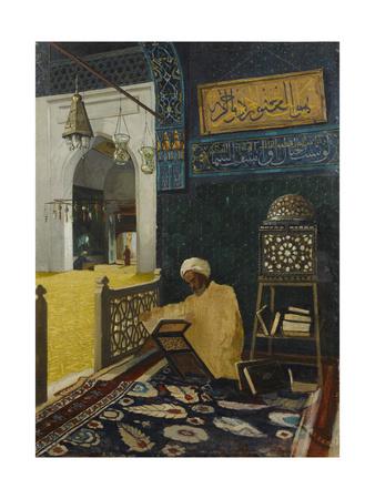 Quran Reciting Giclee Print by Osman Hamdi Bey
