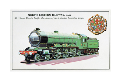 Sir Vincent Raven's Pacific, North Eastern Railway, 1922 Giclee Print