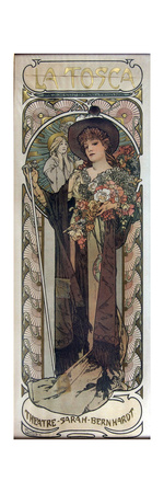 Poster for the Play La Tosca by Victorien Sardou, 1899 Giclee Print by Alphonse Mucha