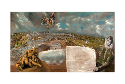 View and Plan of Toledo Giclee Print by  El Greco