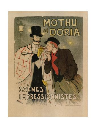 Mothu and Doria. (Scènes Impressioniste), 1893 Giclee Print by Théophile Alexandre Steinlen