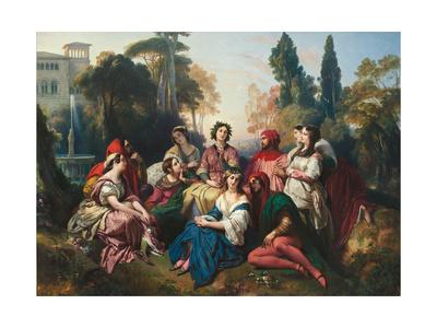 The Decameron, 1837 Giclee Print by Franz Xavier Winterhalter
