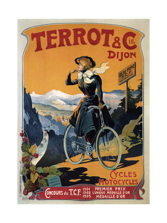 Cycles Terrot and Cie, 1905 Giclee Print by Francisco Tamagno