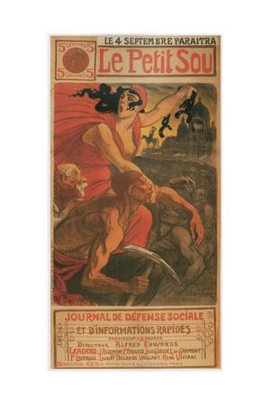 Le Petite Sou, 1900 Giclee Print by Théophile Alexandre Steinlen