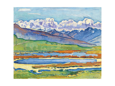 Etang Long Crans-Montana, 1915 Gicléetryck av Ferdinand Hodler