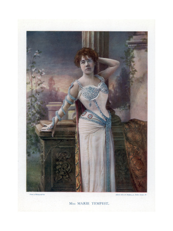 Dame Marie Tempest, English Singer and Actress, 1901 Giclee Print by  Ellis & Walery