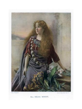 Hilda Moody, British Actress, 1901 Giclee Print by  Ellis & Walery