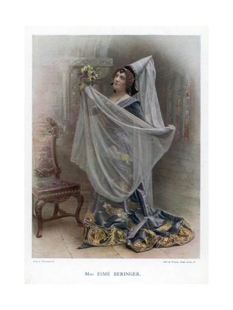 Esme Beringer, British Actress, 1901 Giclee Print by  Ellis & Walery