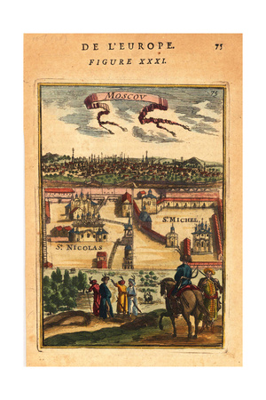 Moscow, 1683 Giclee Print by Alain Manesson Mallet