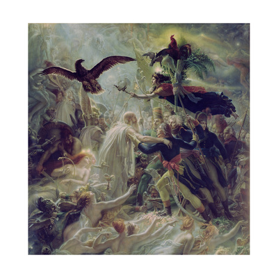 Apotheosis of the French Heroes Who Died for their Country During the War for Freedom Giclee Print by Anne Louis Girodet de Roucy Trioson