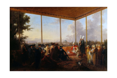 Audience Given in Constantinople by the Grand Vizier Aimali Carac for Francois-Emmanuel Guignard Giclee Print by Francesco Giuseppe Casanova
