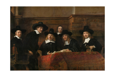 Syndics of the Drapers' Guild (The Sampling Official), 1662 Giclee Print by  Rembrandt van Rijn