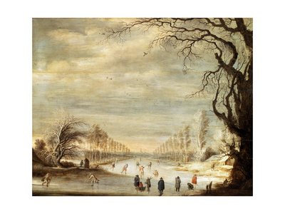Winter Landscape, 17th Century Giclee Print by Gysbrecht Leytens
