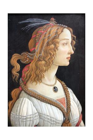 Idealized Portrait of a Lady (Portrait of Simonetta Vespucc), C. 1480 Giclee Print by Sandro Botticelli