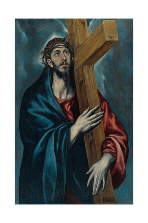 Christ Carrying the Cross Giclee Print by  El Greco