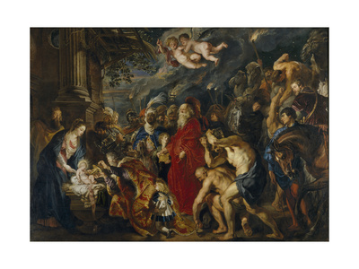 The Adoration of the Magi, 1610-1620S Giclee Print by Pieter Paul Rubens