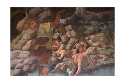 The Fall of the Giants (Sala Dei Gigant) Giclee Print by Giulio Romano