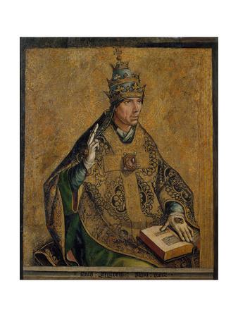 Saint Gregory the Great Giclée-tryk af Pedro Berruguete