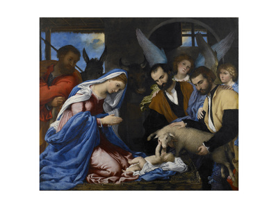 The Adoration of the Shepherds Giclee Print by Lorenzo Lotto