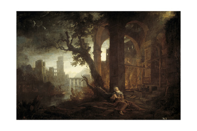 Landscape with the Temptation of Saint Anthony Giclee Print by Claude Lorrain