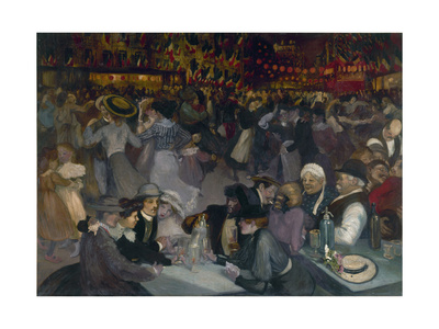 The Ball on the 14th of July Giclee Print by Théophile Alexandre Steinlen