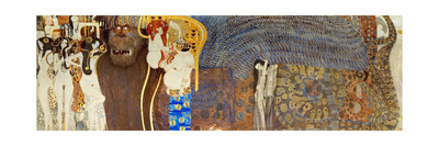 The Beethoven Frieze, Detail: the Hostile Forces, 1902 Giclee Print by Gustav Klimt