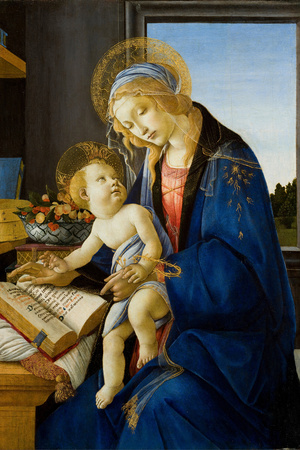 Madonna of the Book (Madonna Del Libr), 1480 Giclee Print by Sandro Botticelli