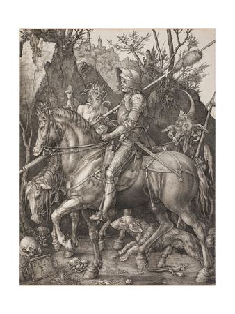 Knight, Death and the Devil Giclee Print by Albrecht Dürer