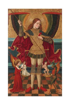 The Archangel Michael Weighing the Souls of the Dead Giclee Print by Juan de la Abadía the Elder