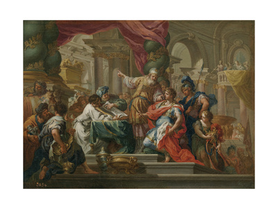 Alexander the Great in the Temple of Jerusalem Giclee Print by Sebastiano Conca